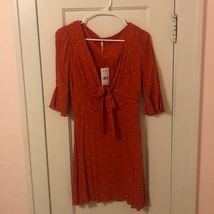 Fit and flare cute free people dress